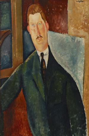 アメデオ・モディリアーニ《男の肖像》(写真提供:ひろしま美術館)