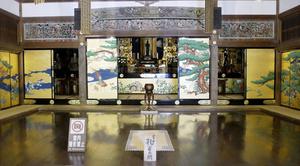 瑞巌寺のきらびやかな孔雀の間=宮城県松島町