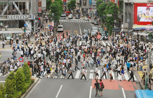 東京・渋谷のスクランブル交差点